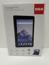 RCA Voyager Pro 7 inch tablet with keyboard case.16gb Front Camera (Open Box).