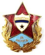 Old Football Honor badge FC Spartak Sofia Badge for Merit numbered 341 Rare