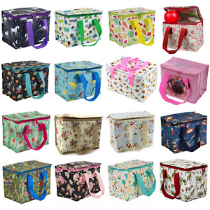 Various Kids Adult Lunch School Bag Insulated Picnic Cool Recycled Bags Eco SALE