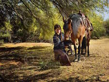 Barry Hart Time for a Snack Western Photography Horse Cowgirl Print Poster 18x24