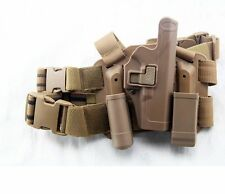 Tactical Drop Leg Thigh Right-hand Holster With 2 Pouches for Glock 17 18 22 23