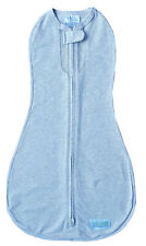 Woombie Air Dream On (Light Blue) - Hip Healthy Baby Swaddle/Zip Up Baby Wrap