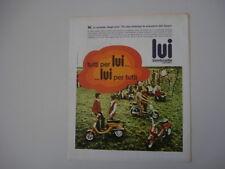 advertising Pubblicità 1969 LAMBRETTA LUI 50 - 75 S