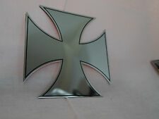 Car 3D Decal Auto Truck Chrome Badge Emblem Iron Cross Maltese BILLET