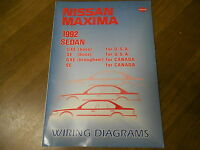 1992 Nissan Maxima Wiring Diagram Service Repair Shop Manual Factory Book OEM 92