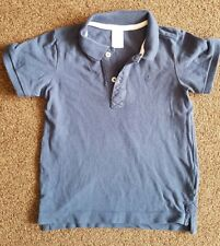 H&M 18-24 Months Blue Collared Tshirt With anchor logo Design