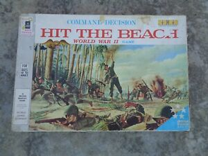 Command Decision HIT THE BEACH WWII 1965 Board Game by Milton Bradley.