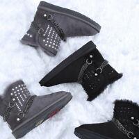 NOCK UGG Boots Australian Sheepskin Genuine Mini Crystal Chain Water Resistant