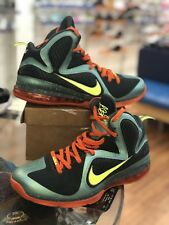 "2011 RARE Nike Lebron IX 9 ""Cannon"" Volt-Slate Orange 469764-004 93559d6b4"