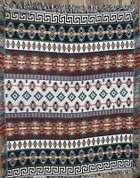 "Southwestern Geometric Design Woven Tapestry Throw Blanket 48"" X 60"""