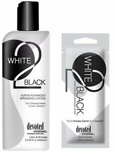 Devoted Creations WHITE 2 BLACK Super Advanced Bronzing Lotion Same Day Dispatch
