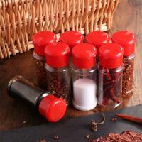 24pcs Plastic Spice Pot Seasoning Bottles Pepper Shakers Salt Jar Condiment Pots
