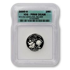 USA South Carolina State Quarter 2000 S Silver Proof ICG PR 69 DCAM