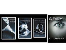 LA TRILOGIA CINCUENTA (50) SOMBRAS DE GREY & CRISTIAN GREY 4 BOOKS ESPANOL !!!