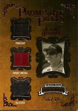 CLINT BOWYER  2009 Press Pass swatch firesuit, glove & sheet metal  #'d 56 of 99