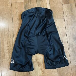 Women's Trek Cycling Fitted Shorts Chamois Padded Black Made In USA sz L