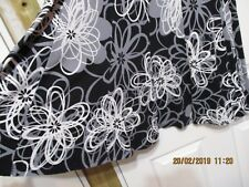 BLACK PEPPER BLACK AND WHITE FLORAL FLARED SKIRT SIZE 12 -30 INCH WAIST