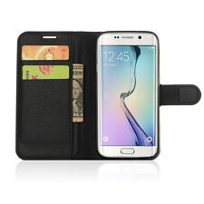 Magnetic Card Holder For SAMSUNG Galaxy S7 PHONE BLACK WALLET LEATHER ACCESSORY