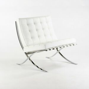 2020 Mies Van Der Rohe for Knoll Studio Barcelona Chair in White Volo Leather