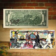 THE BEATLES Abbey Road Apollo 11 $2 US Bill - SIGNED by RENCY - Numbered of 1969