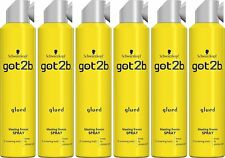 6 X Schwarzkopf Got2b Glued Blasting Freeze Spray 300ml