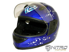 CASCO integrale con visiera bambino mini moto cross quad miniquad