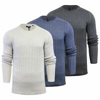 Mens Jumper Brave Soul Lairon Knitted Crew Neck Sweater