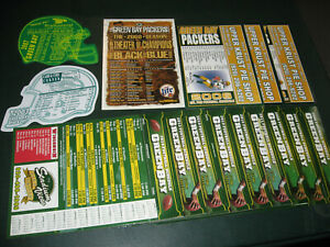 29 GREEN BAY PACKERS schedule magnets different 2000 and up!!!