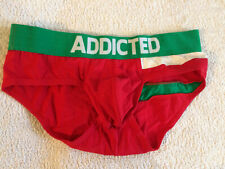 Mens Sexy Underwear BNWOT Addicted Red Green XL 34/36 Waist Stretch Gay Interest