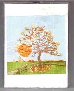 BARGAIN Thea Gouverneur Autumn Scene Counted Cross Stitch Kit Evenweave