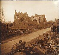Ruines Da La Grande Guerre 14-18 Francia Foto PL51L14n Placca Vintage