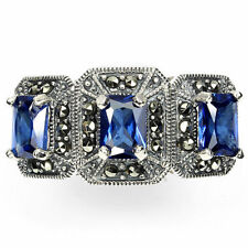 Lab-Created Marcasite Fine Rings