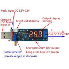 DC-DC 5V to 1.2V-24V USB Step UP/Down Power Supply Module Adjustable Converter