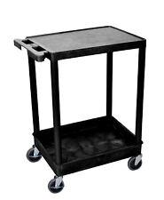 H Wilson Stc21-b Stc Series 18 X 24 Inch 2-shelf Utility Cart Black