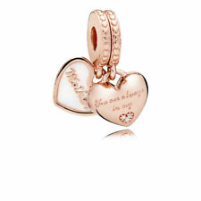 GENUINE PANDORA Rose Mother and Daughter Hearts Hanging Charm 782072EN23 RRP99
