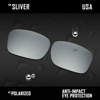 IRCoat Polarized Replacement Lenses for-Oakley Sliver OO9262  - Silver
