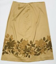 Brooks Brothers Womens Skirt Size 10 Brown Floral Cotton Blend Pencil