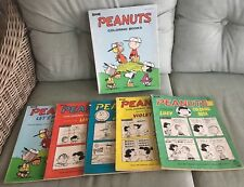 RARE Peanuts Charlie Brown Snoopy Vintage Coloring Book Lot Of 5 Books with box!