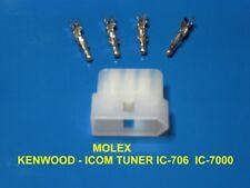 MOLEX 4 PIN CONNETTORE  MASCHIO TUNER ICOM - TUNER LDG