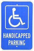 Handicapped Parking with Graphic Metal Aluminum Parking Sign 8X12