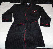 Essendon Bombers AFL Mens Est Black Red Fleece Dressing Gown Robe One Size New