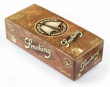 Cartine Smoking BROWN DOUBLE corte doppie NATURALI senza Cloro 25 pz 1 BOX