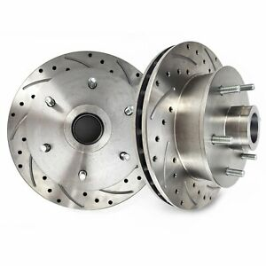 """Helix SureStop 11"""" Drilled & Slotted Rotor 6x5.5 Fits Mustang II IFS Pro Spindle"""