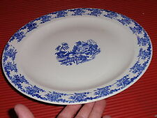 LARGE VINTAGE PORCELAIN PLATTER  BLUE AND WHITE 12 INCHES