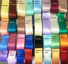 1.5 DOUBLE FACE SATIN RIBBON- 48 COLORS- 1 YARDS