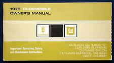 Owner's Manual Betriebsanleitung 1975 Oldsmobile Cutlass  Vista Cruiser    (USA)