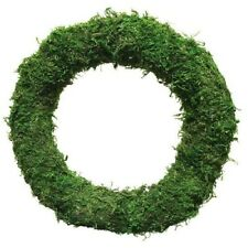"""10"""" Padded Moss Effect Round Wreath Rings Ring Christmas Decoration"""