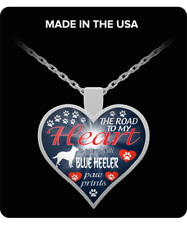 Blue Heeler Dog,Australian Cattle Dog,Acd,Cattle dog,Gift,Heart Pendant Necklace