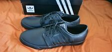 Adidas Originals SEELEY Triple Black LEATHER SHOES US13 brand new