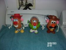 TOY STORY MR. POTATO HEAD LOT OF 3 BUZZ LIGHTYEAR, WOODY, JESSIE